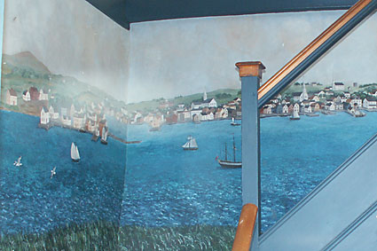 Mural of Newport in 1730s